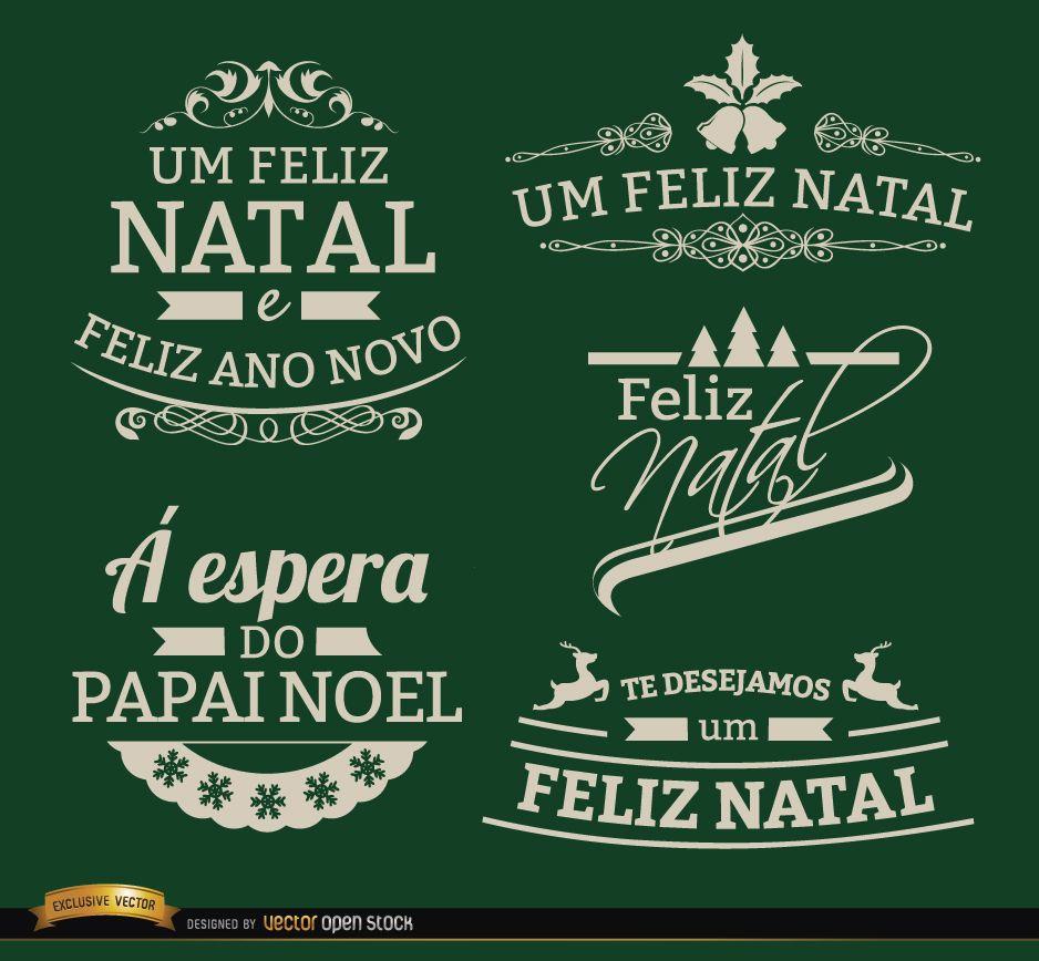 5 Elegant Christmas labels Portuguese