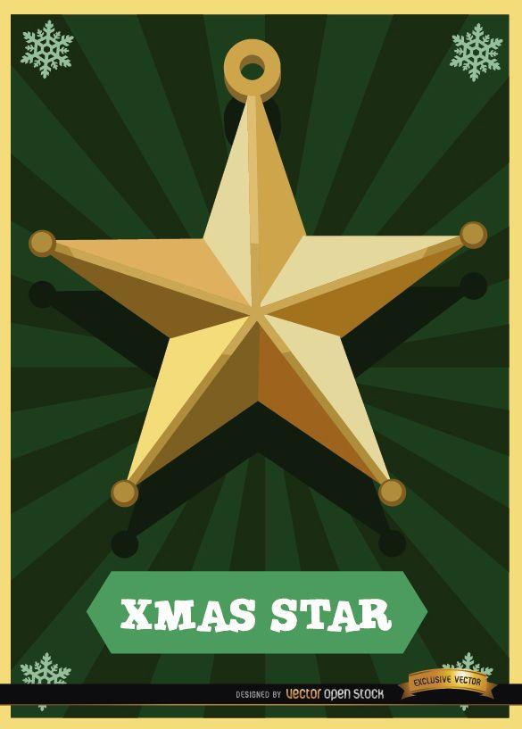 Tarjeta estrella de Navidad