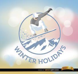 Fundo de snowboard de férias de inverno