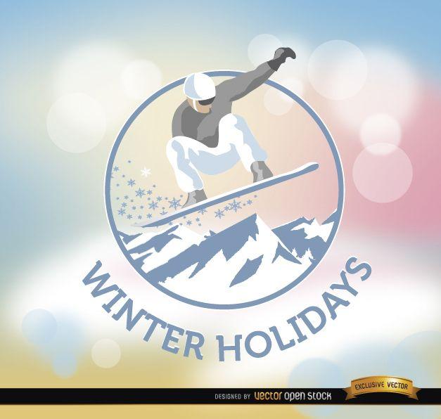 Winter Holidays snowboard background
