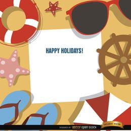 Holidays background beach objects