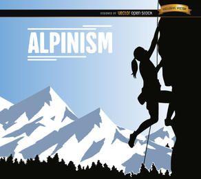 Alpinismus Frau Design