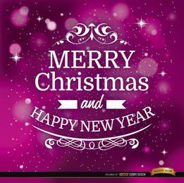 Fondo de estrellas de feliz navidad