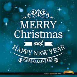 Mensaje de navidad de fondo del espacio