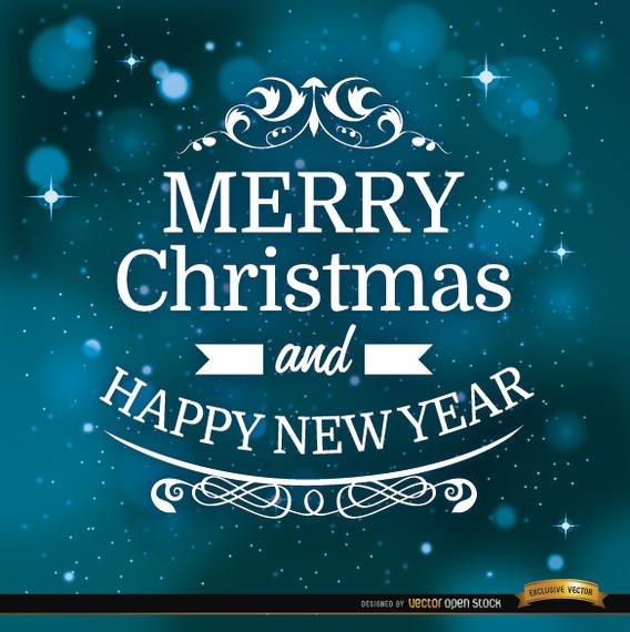 Christmas message space background