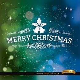 Fondo de espacio de feliz Navidad