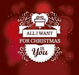 Romantic Christmas gift background