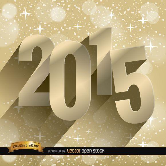 2015 estrellas fondo dorado