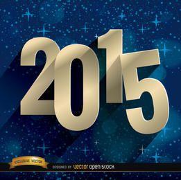 2015 estrelas fundo azul