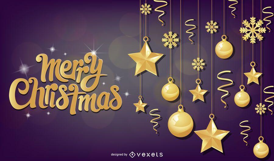Bokeh de Natal brilhante bolas fundo roxo