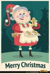 Fundo de Natal de biscoitos de avó