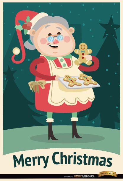 Grandmother cookies Christmas background