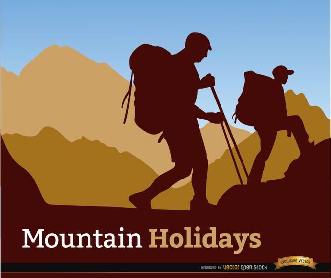 Fondo de vacaciones alpinismo.