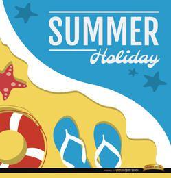 Praia de férias de verão