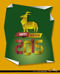 Fondo de cabra de origami 2015