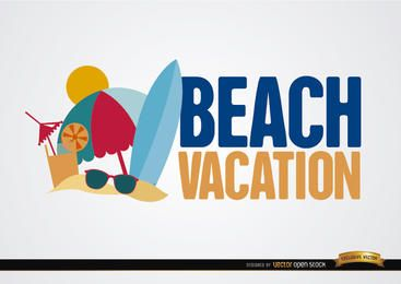 Beach vacation background