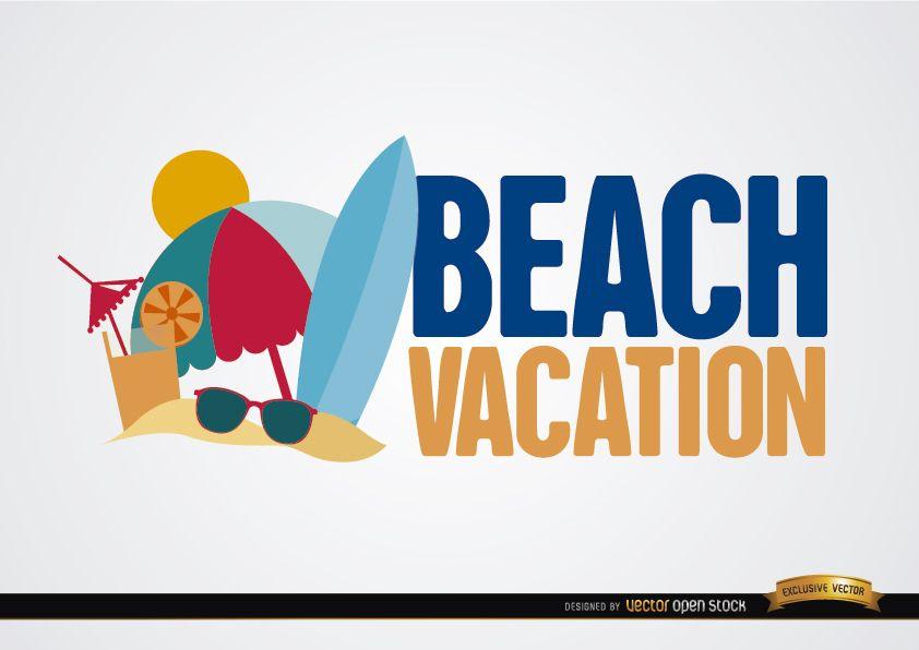 Fondo de vacaciones en la playa