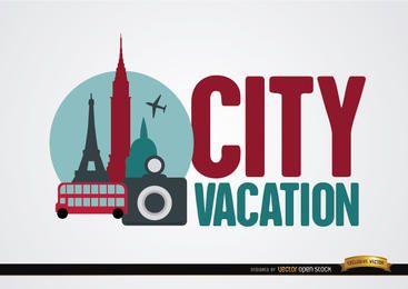 Cidade fundo das férias