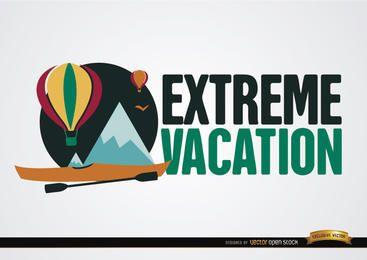 Banner de vacaciones extremas