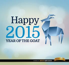 2015 year goat origami background