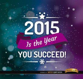 Ano 2015 espaço fita de fundo