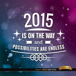 2015 motivierender Hintergrund mit Sternen