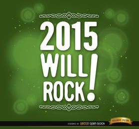 2015 message green background