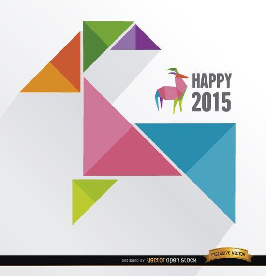 2015 triángulos de colores de cabra