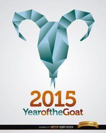 Fondo de cabeza de cabra de origami 2015