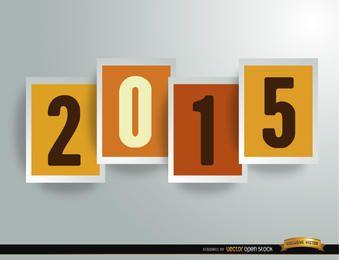 2015 dígitos em quadros de fundo