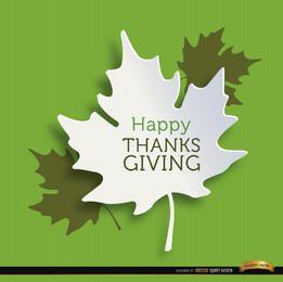 Fondo de hojas de acción de gracias feliz