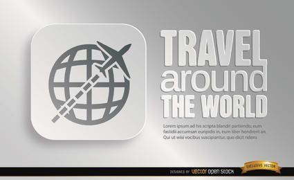 Promoção de símbolo de viagens do mundo