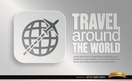 World travel symbol promo