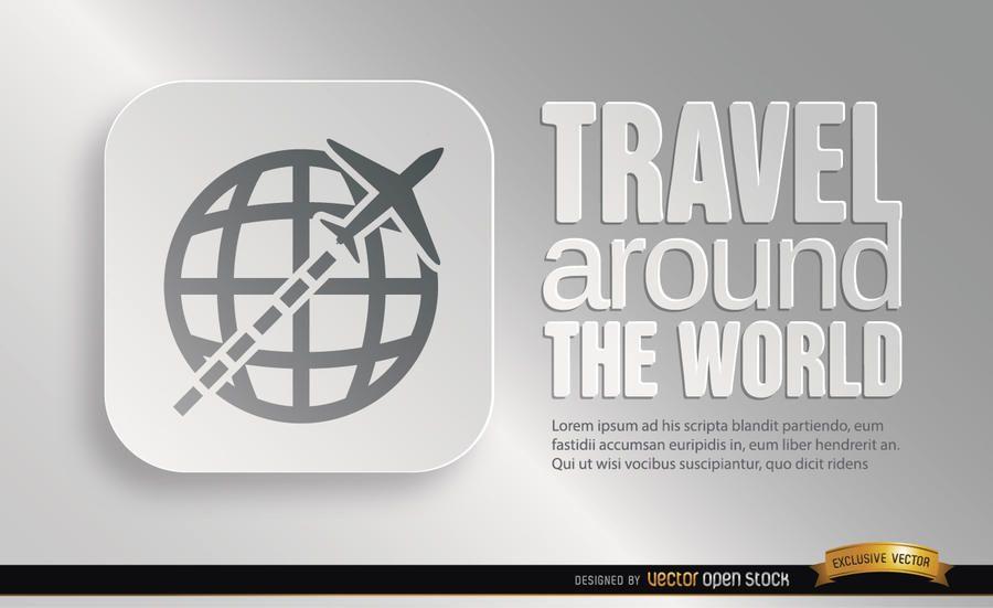 World travel symbol promo