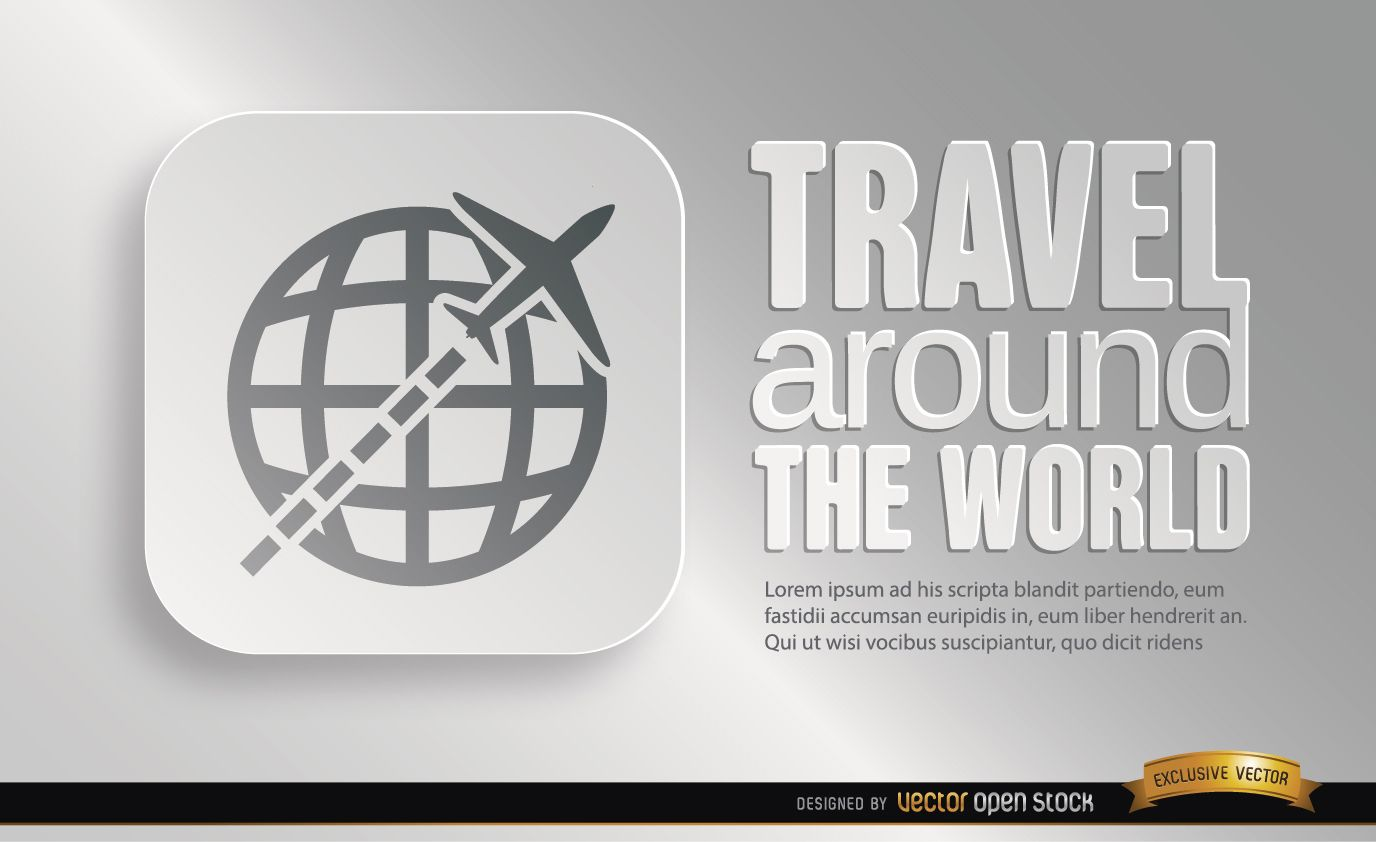 Promoción de símbolo de viajes mundiales