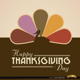 Feliz Acción de Gracias de color pavo fondo de la cola