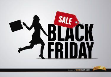 Schwarzer Freitag Verkauf Frau
