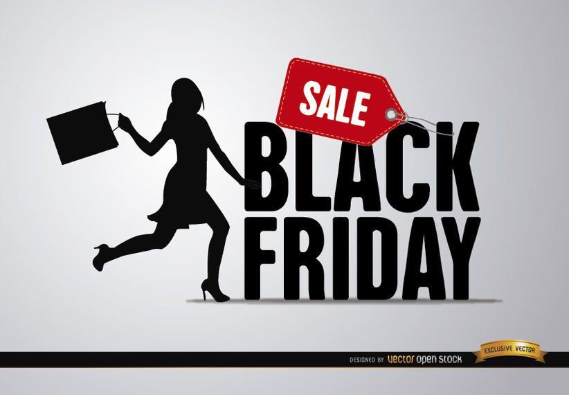 Mulher de venda de sexta-feira negra