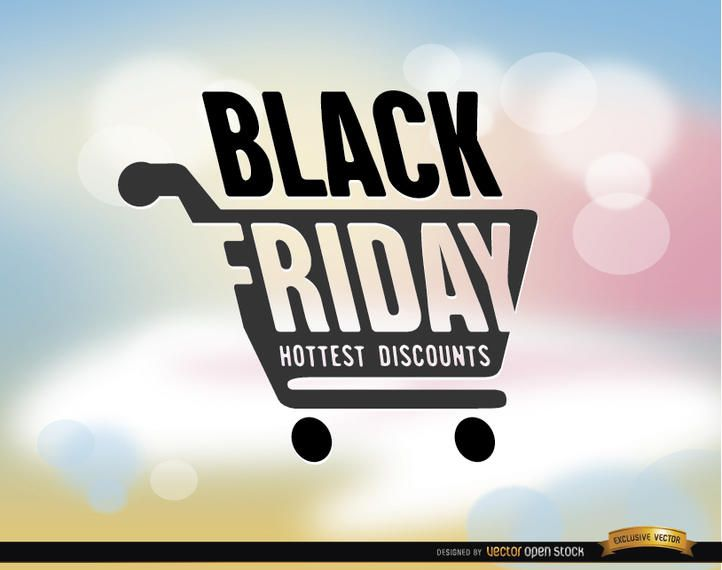 Black Friday shopping cart background
