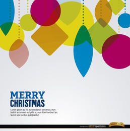 Fundo de suspensão de formas geométricas de Natal