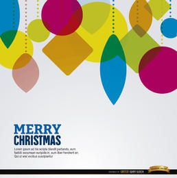 Navidad formas geométricas colgando fondo