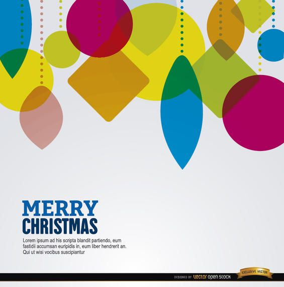 Christmas geometric shapes hanging background