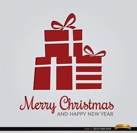 Presentes de Natal vermelhos abstratos