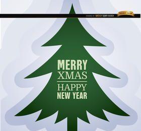 Fondo de pino de Navidad año nuevo