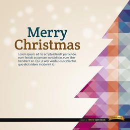 Weihnachtspolygonbaum-Schneehintergrund