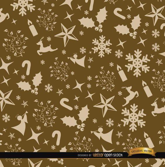 Patrón de adornos de oro de Navidad