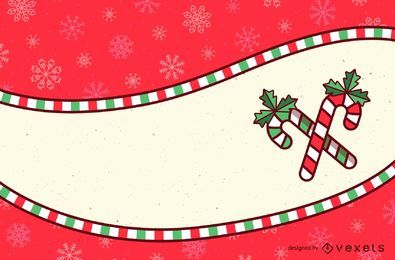 Tarjeta de Navidad Stripy Candy Frame