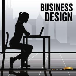 Business woman office working