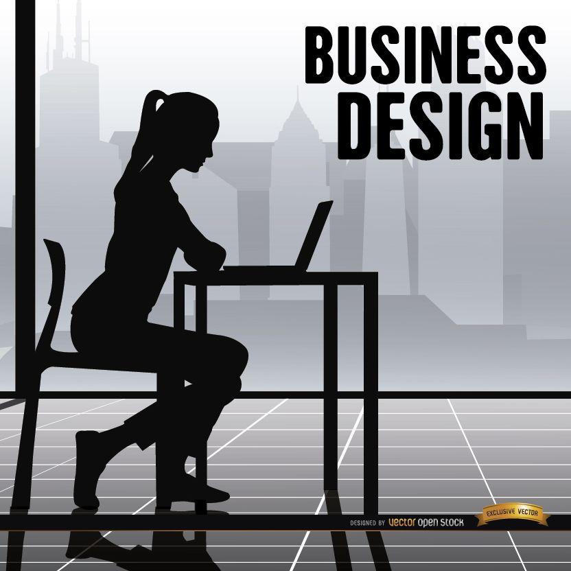 Mujer de negocios oficina trabajando