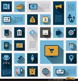 26 iconos de información de negocios